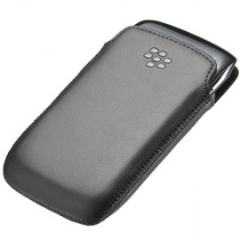 Leather Pocket Blackberry 9380 Black