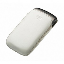 Leather Pocket Blackberry 9380 White