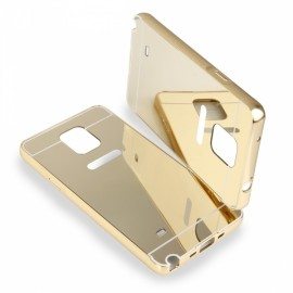 Etui Luxury Mirror Bumper Samsung Galaxy Note 4 Gold