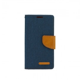 Etui Canvas Book Case Sony Xperia M4 Aqua Navy Blue