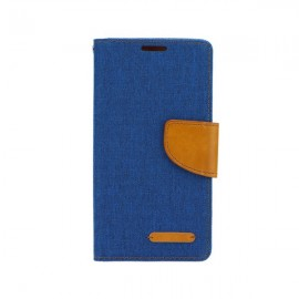 Etui Canvas Book Case LG K10 Blue