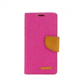 Etui Canvas Book Case LG K10 Pink