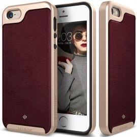 Etui Caseology Envoy iPhone 5 5s SE Leather Cherry Oak