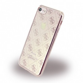 Etui Guess 4G Transparent iPhone 7 Rose Gold