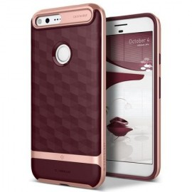 Etui Caseology Parallax Google Pixel Burgundy / Rose Gold