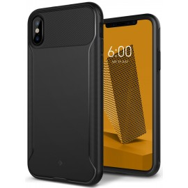 Etui Caseology iPhone X Nero Slim Black + Szkło