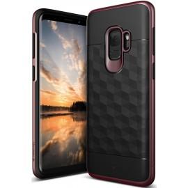 Etui Caseology Samsung Galaxy S9 Parallax Black/Burgundy