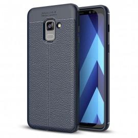 Etui Litchi Pattern Samsung Galaxy A8 2018 Blue