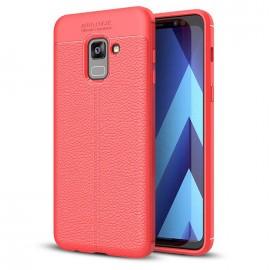 Etui Litchi Pattern Samsung Galaxy A8 2018 Red
