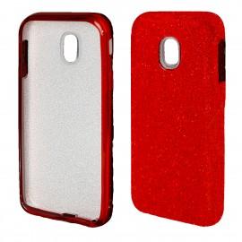 Etui Futerał Samsung Galaxy J3 2017 SHINING Red