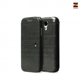 Zenus Lettering Diary Samsung Galaxy S4 Dark Charcoal Grey