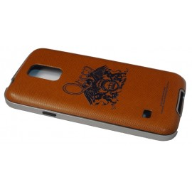 Avoc Barcelona Queen Crest Samsung Galaxy S5 Brown