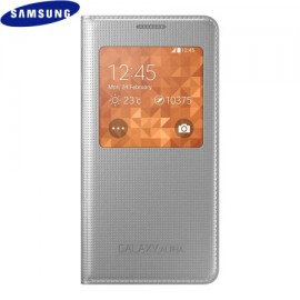 S-View Cover Samsung Galaxy Alpha Silver