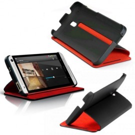 Double Dip Flip Case HC-V851 HTC One Mini M4 Black/Red