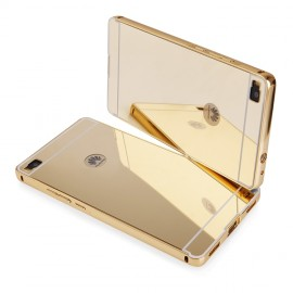 Etui Luxury Mirror Bumper Huawei P8 Gold