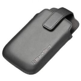 Leather Pocket Holster Blackberry 9380 Black