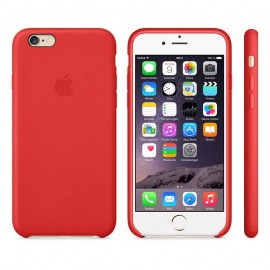 Leather Case iPhone 6 Plus Bright Red