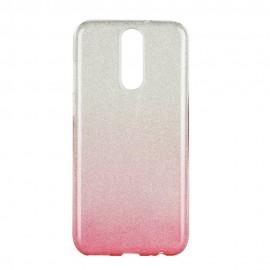 Futerał Forcell SHINING Huawei P9 Lite Mini Transparent/Różowy