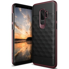 Etui Caseology Samsung Galaxy S9+ Parallax Black/Burgundy
