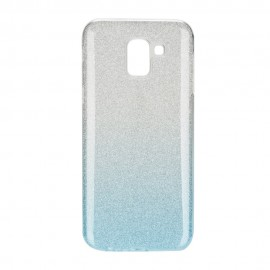 Futerał Forcell SHINING Samsung Galaxy J6 2018 Transparent/Niebieski