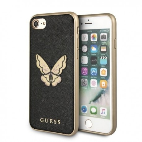 823120b254e90 Etui Guess Iphone 7   8 Butterfly Saffiano Black