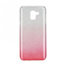 Etui Futerał Samsung Galaxy J6 2018 SHINING Clear/Pink