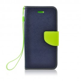 Etui Kabura Fancy Book Case HTC Desire 12 Dark Blue / Lime