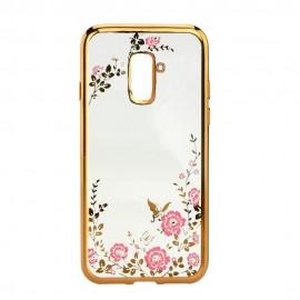 Futerał DIAMOND Samsung Galaxy A6+ Złoty