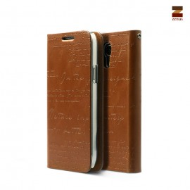 Zenus Lettering Diary Samsung Galaxy S4 Mini Brown