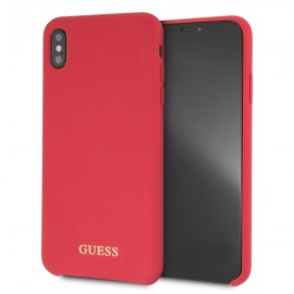 Etui Guess Iphone XS Max Silicone Red