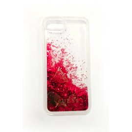 Etui Guess Iphone 7 / 8 Glitter Hearts Raspberry Red