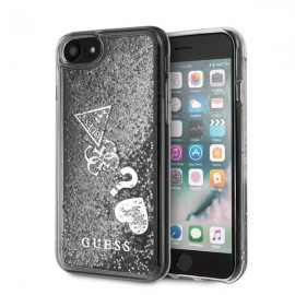 Etui Guess Iphone 7 / 8 Glitter Hearts Silver