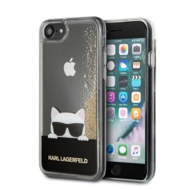 Etui Karl Lagerfeld iPhone 7 / 8 Liquid Glitter Gold