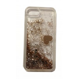 Etui Guess Iphone 7 / 8 Glitter Hearts Gold