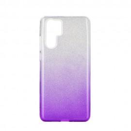 Etui SHINING Huawei P30 Pro Clear/Violet