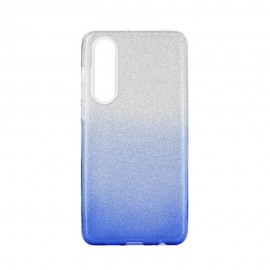 Etui SHINING Huawei P30 Clear/Blue