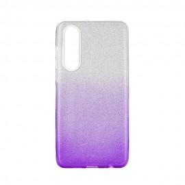 Etui SHINING Huawei P30 Clear/Violet