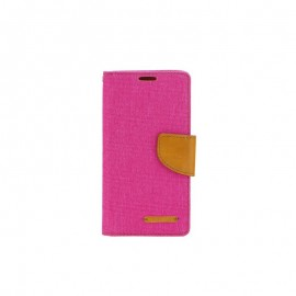 Etui Canvas Book Huawei P8 Lite Pink