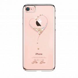 Etui Kingxbar iPhone 7 / 8 Swarovski Heart Rose Gold