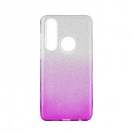 Etui SHINING Huawei P30 Lite Clear/Pink