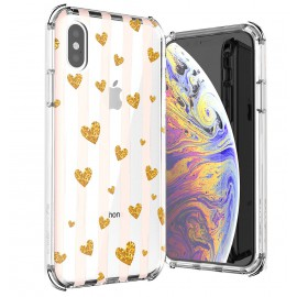 Etui Ballistic iPhone X / XS Jewel Mirage Gold Hearts