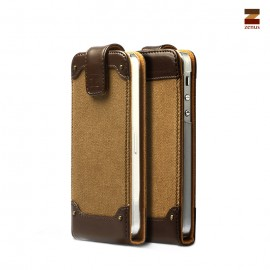 Zenus Rock Vintage Folder iPhone 5/5s Dark Beige