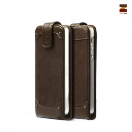 Zenus Rock Vintage Folder iPhone 5/5s Dark Brown