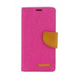 Etui Canvas Book Samsung Galaxy A50 A505 Pink / Brown