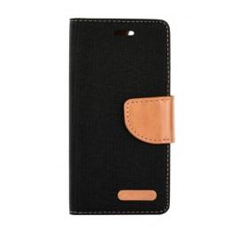Etui Canvas Book Samsung Galaxy A50 A505 Black / Brown