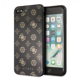 Etui Guess Iphone 7 Plus / 8 Plus Peony G Double Layer Glitter Black