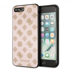 Etui Guess Iphone 7 Plus / 8 Plus Peony G Double Layer Glitter Pink