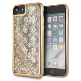 Etui Guess Iphone 7 / 8 Peony Liquid Glitter Gold