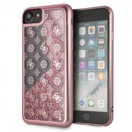 Etui Guess Iphone 7 / 8 Peony Liquid Glitter Pink
