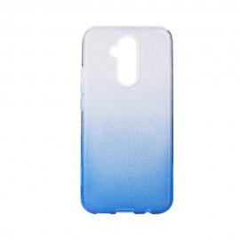 Etui SHINING Huawei Mate 30 Lite Clear/Blue